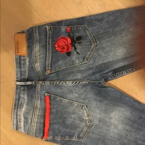 Women s Hm Patch Jeans on Poshmark 51427da703187